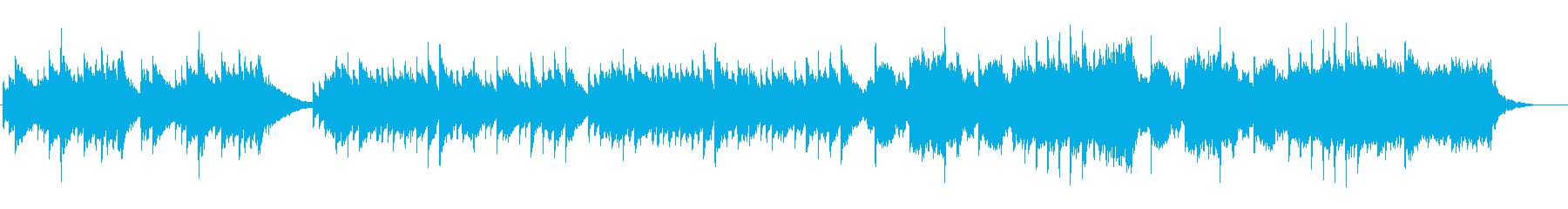 感動的なピアノとストリングスの再生済みの波形