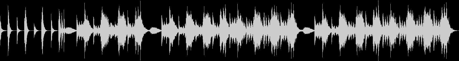 ハープの軽快なメロディで不眠解消の未再生の波形
