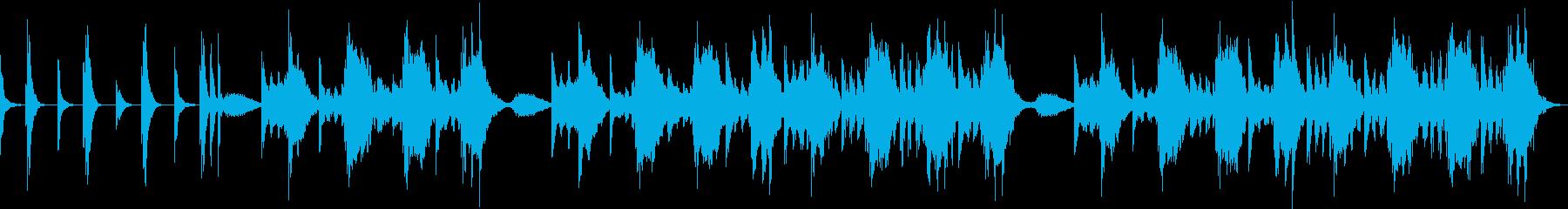 ハープの軽快なメロディで不眠解消の再生済みの波形