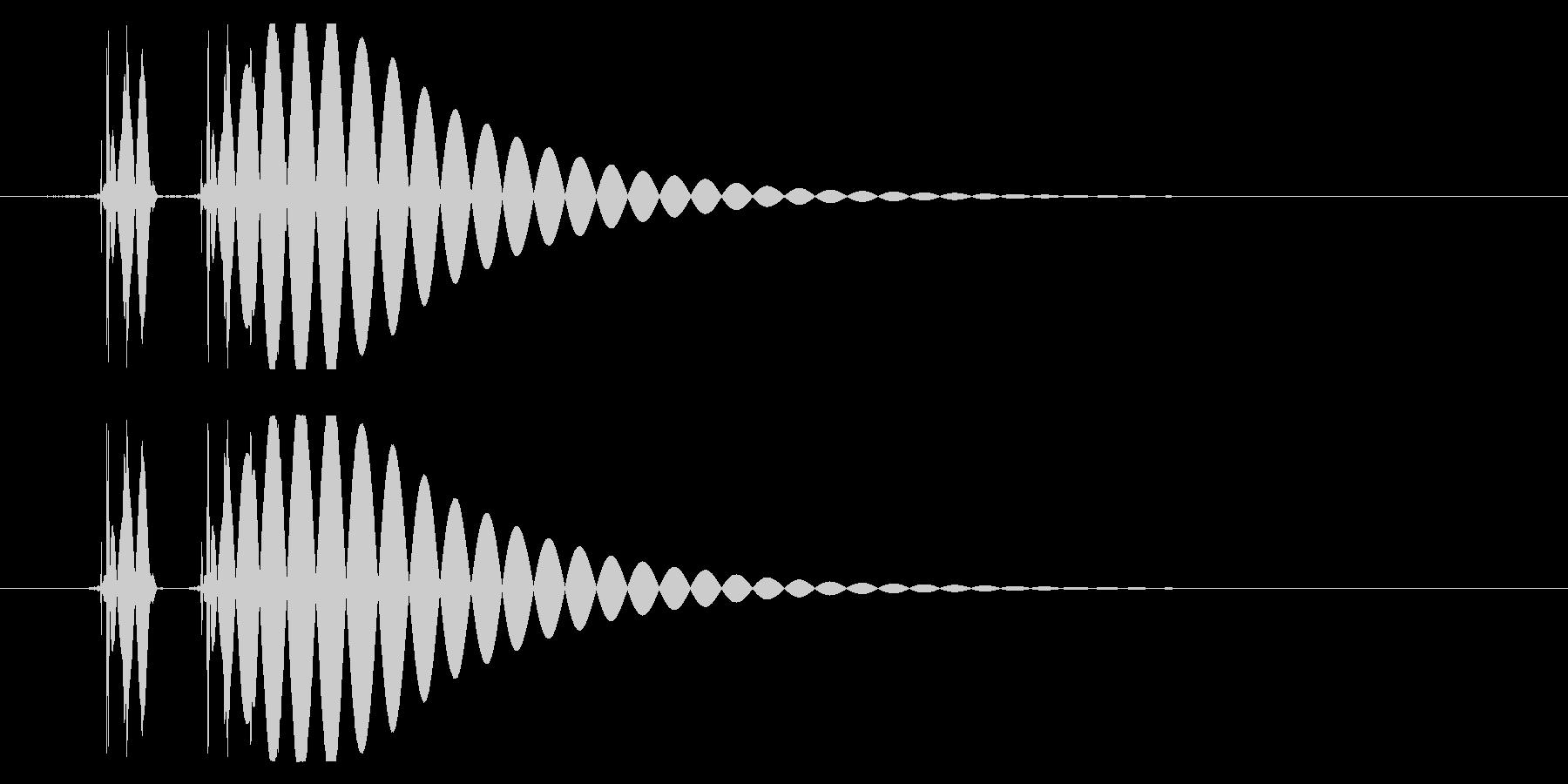 EDM/IDM系の埋もれないバスドラム1の未再生の波形