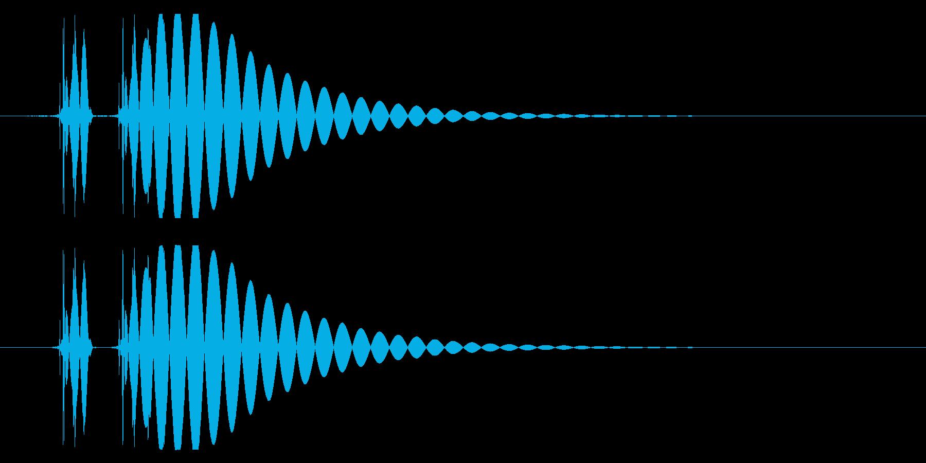 EDM/IDM系の埋もれないバスドラム1の再生済みの波形