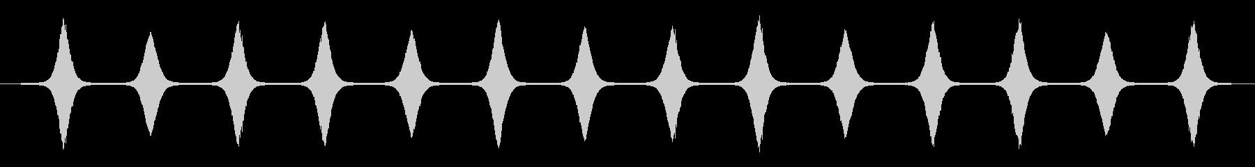 スピニングスペースドップラーの未再生の波形