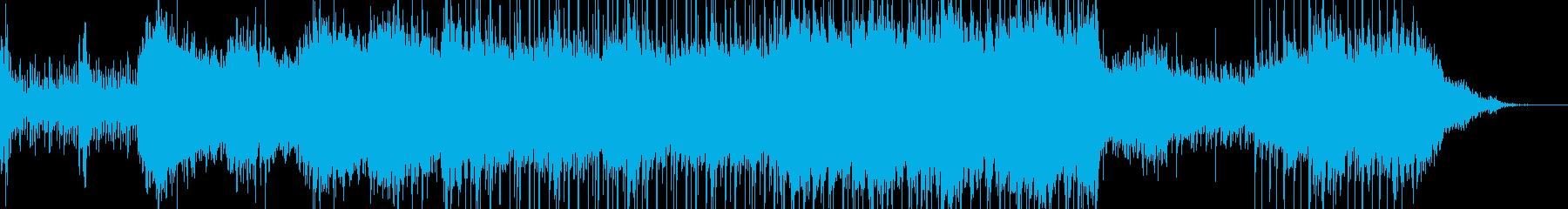 最後まで期待感を膨らませる展開がある楽曲の再生済みの波形