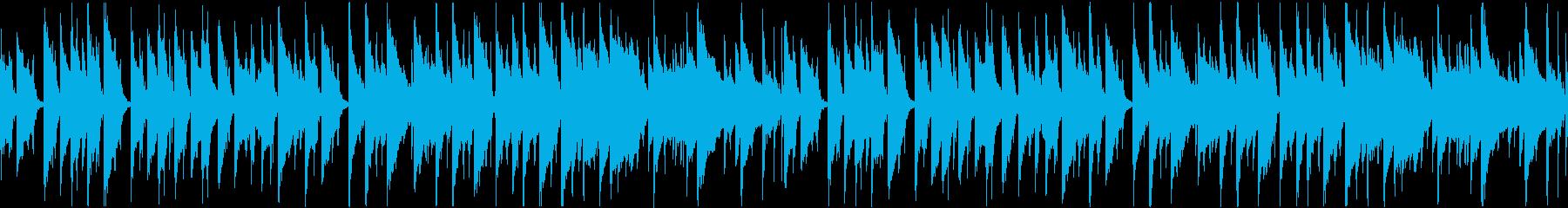 【YouTube】おしゃれでまったりな曲の再生済みの波形