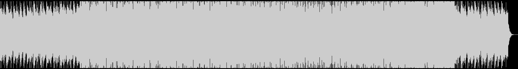 シリアスな雰囲気と浮遊感のあるBGMの未再生の波形