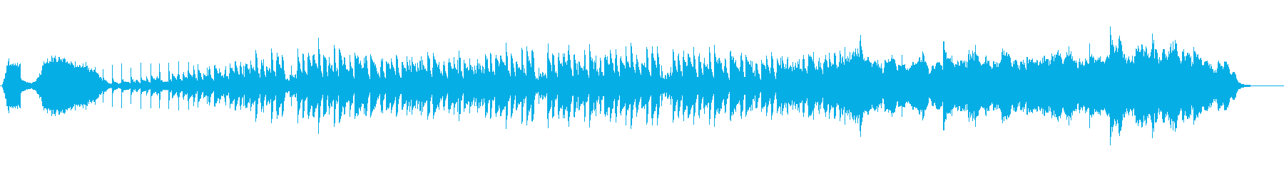 効果音を使ったハロウィンのプロローグの再生済みの波形