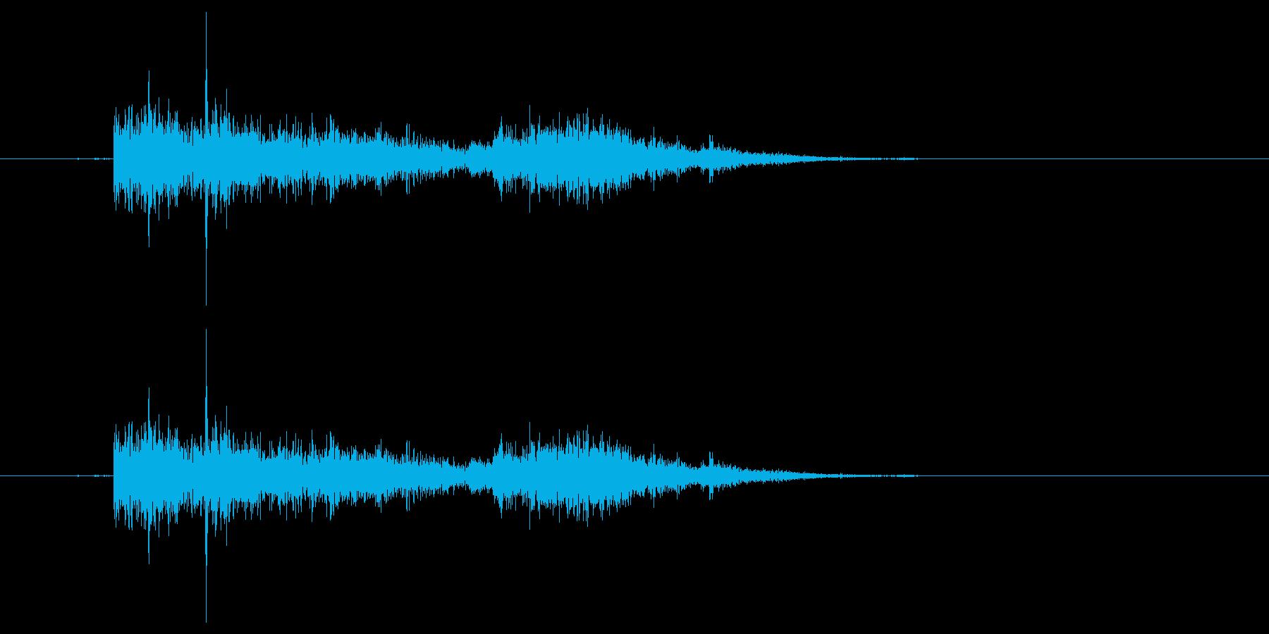 水の音 お風呂 プール「ぼちゃん」02の再生済みの波形
