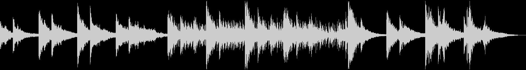 ピアノメインのLo-fiHipHopの未再生の波形