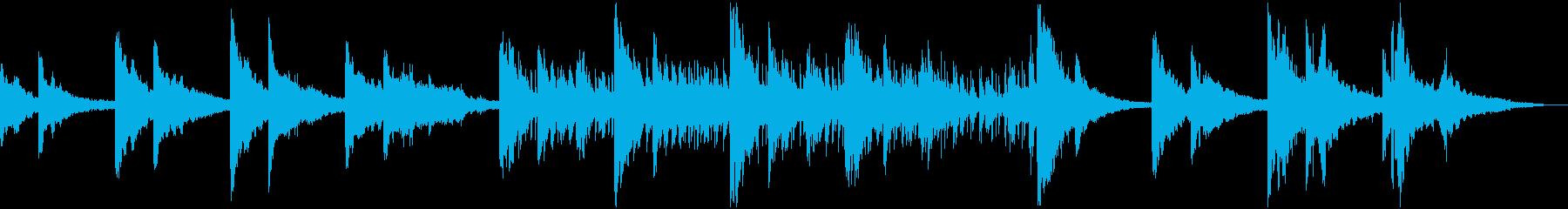 ピアノメインのLo-fiHipHopの再生済みの波形