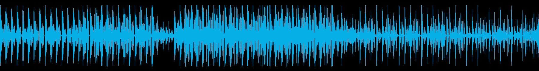 [ループ可能]ポップなダンサブル楽曲の再生済みの波形