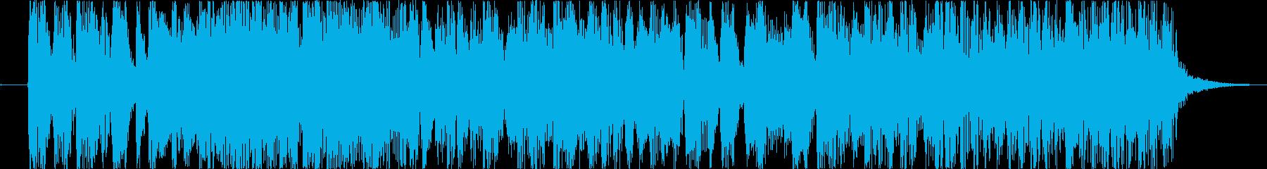 テクニカルでモダンなサウンドの再生済みの波形