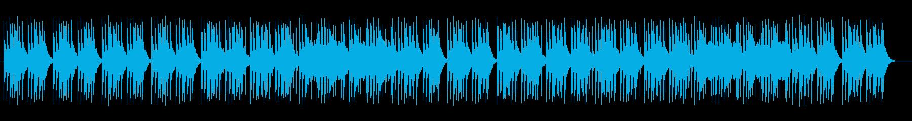 シンセサイザーのアップテンポポップスの再生済みの波形