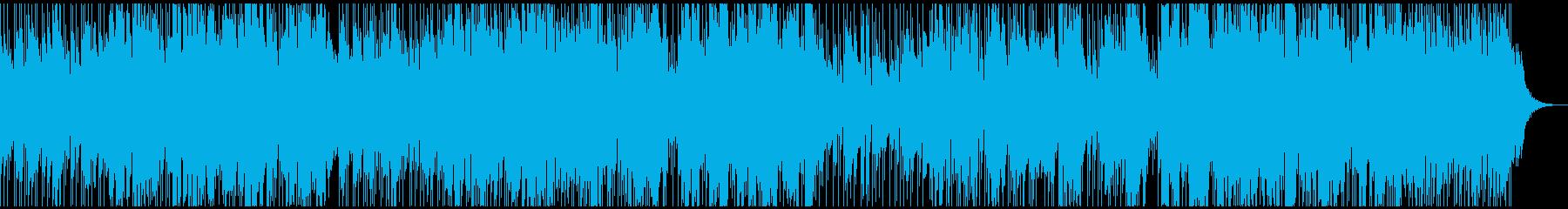 可愛い雰囲気のポップスの再生済みの波形