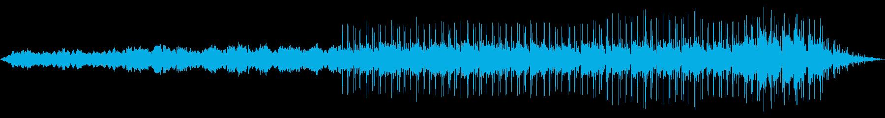 シンセとフィルターギターフレーズの再生済みの波形