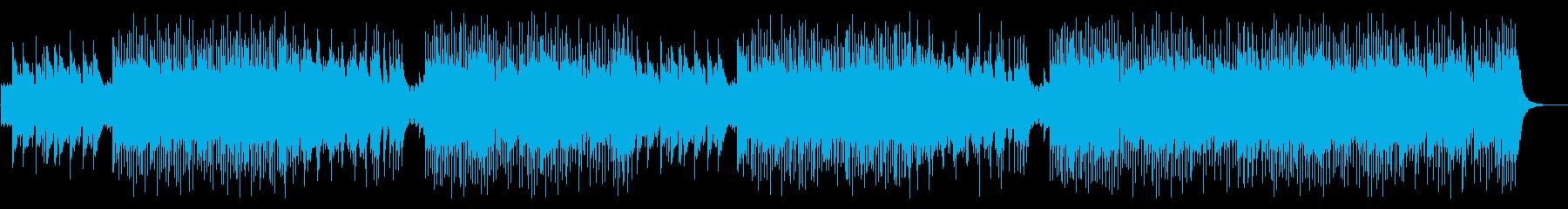 爽やかな曲想のポジティブロックインストの再生済みの波形