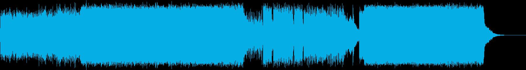 幻想的で激しい一風変わったエレクトロの再生済みの波形