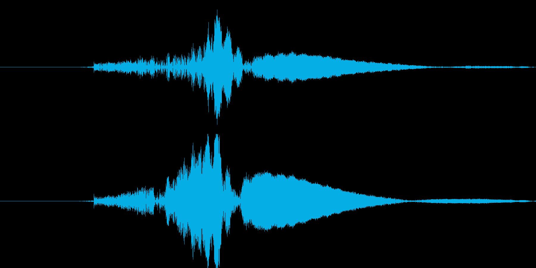 パンチ素振りの再生済みの波形