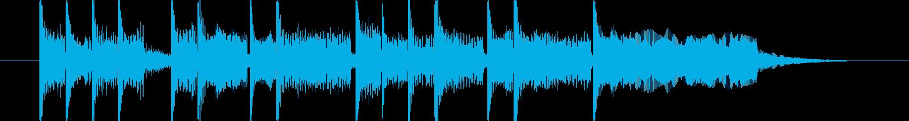 競走対戦レース出走前のファンファーレ風味の再生済みの波形