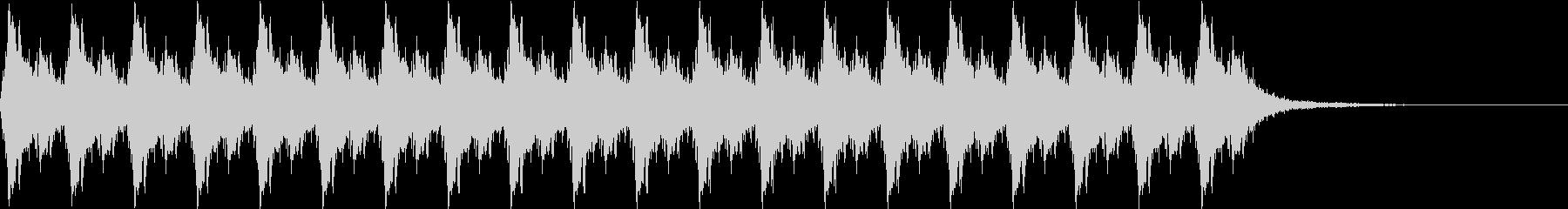 クリスマス サンタの鈴 10秒間の未再生の波形