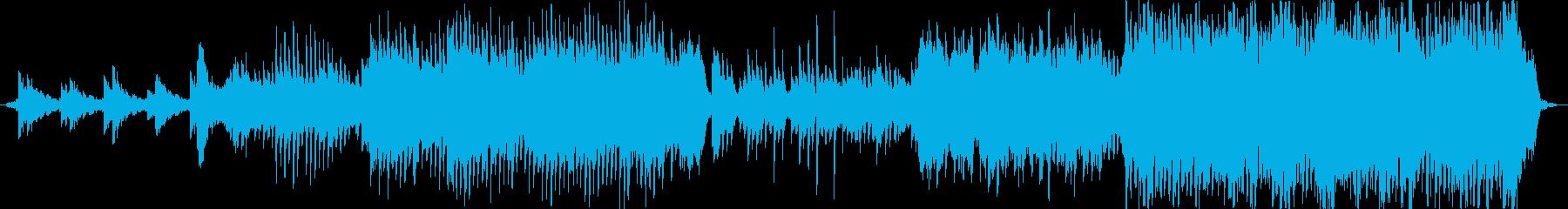 ストリングスと電子音、優しくて幻想的な曲の再生済みの波形