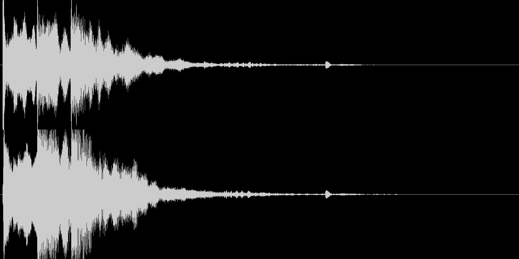 サウンドロゴ シンプルの未再生の波形