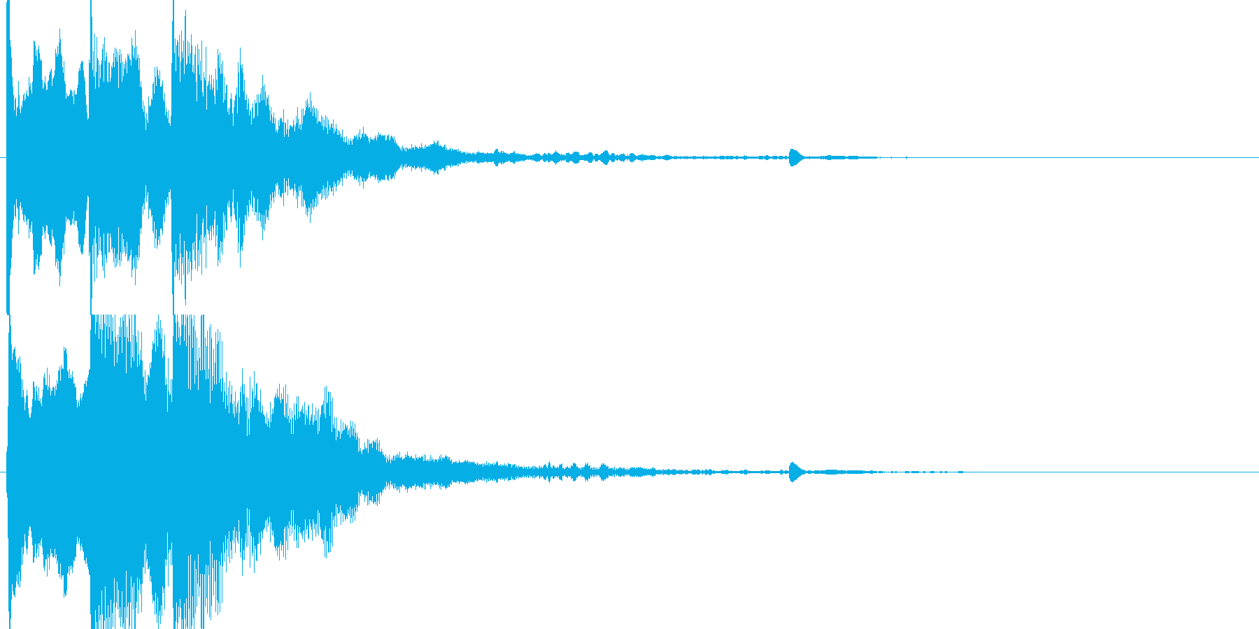 サウンドロゴ シンプルの再生済みの波形