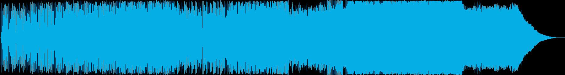 グルーヴィーでエネルギッシュなハウスの再生済みの波形