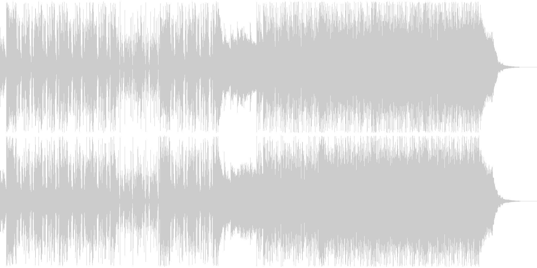 前向きに走り出す2部構成のエレクトロの未再生の波形