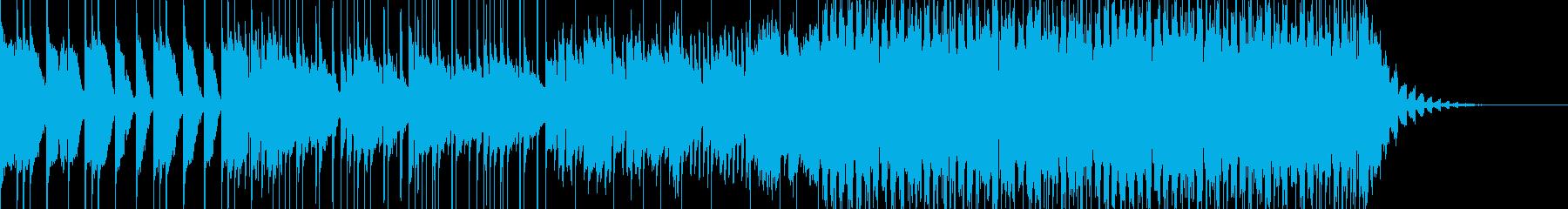 キャッチーなトロピカルポップハウスの再生済みの波形