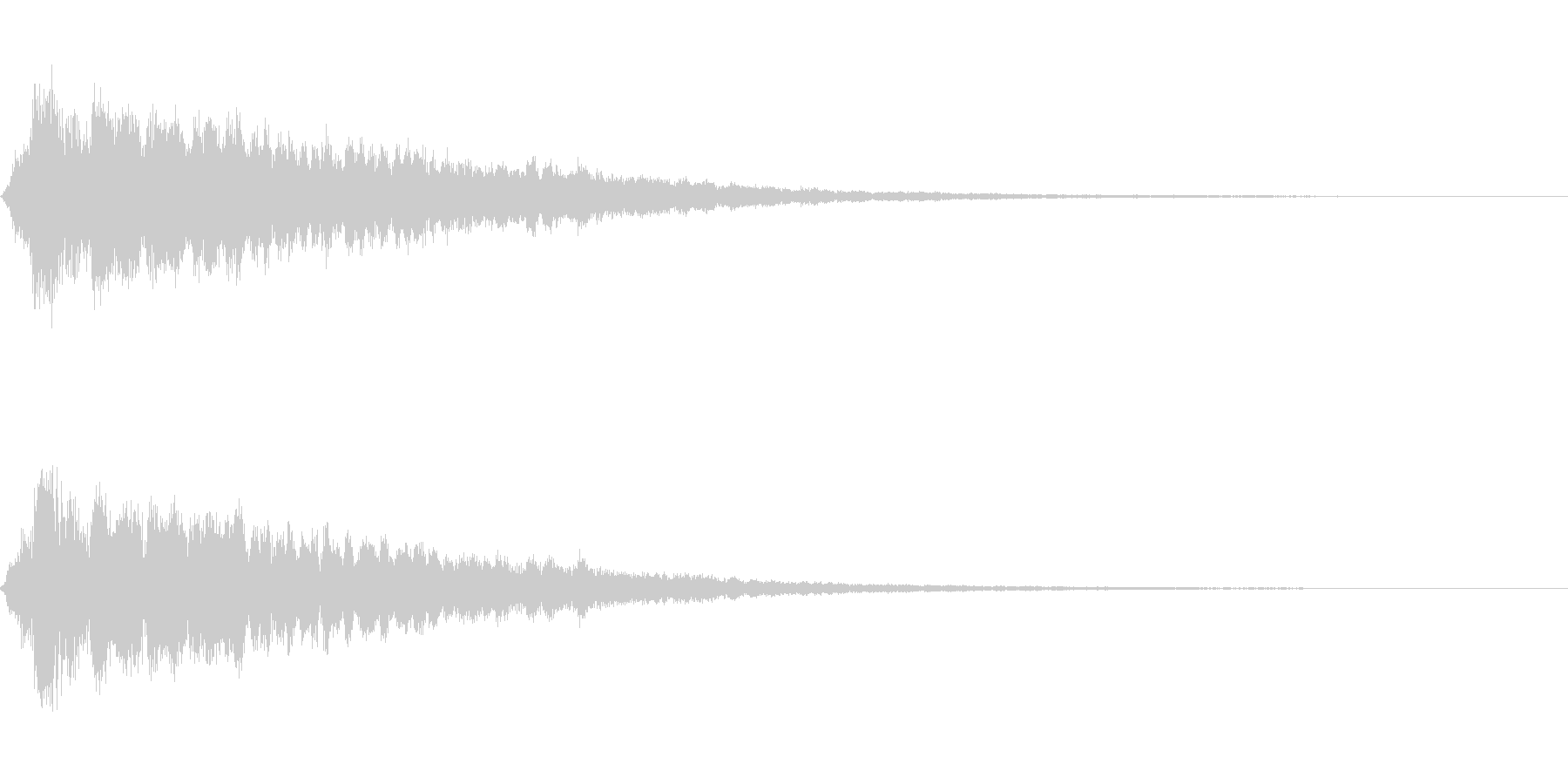 かわいい系 キラキラ系 光る音05の未再生の波形