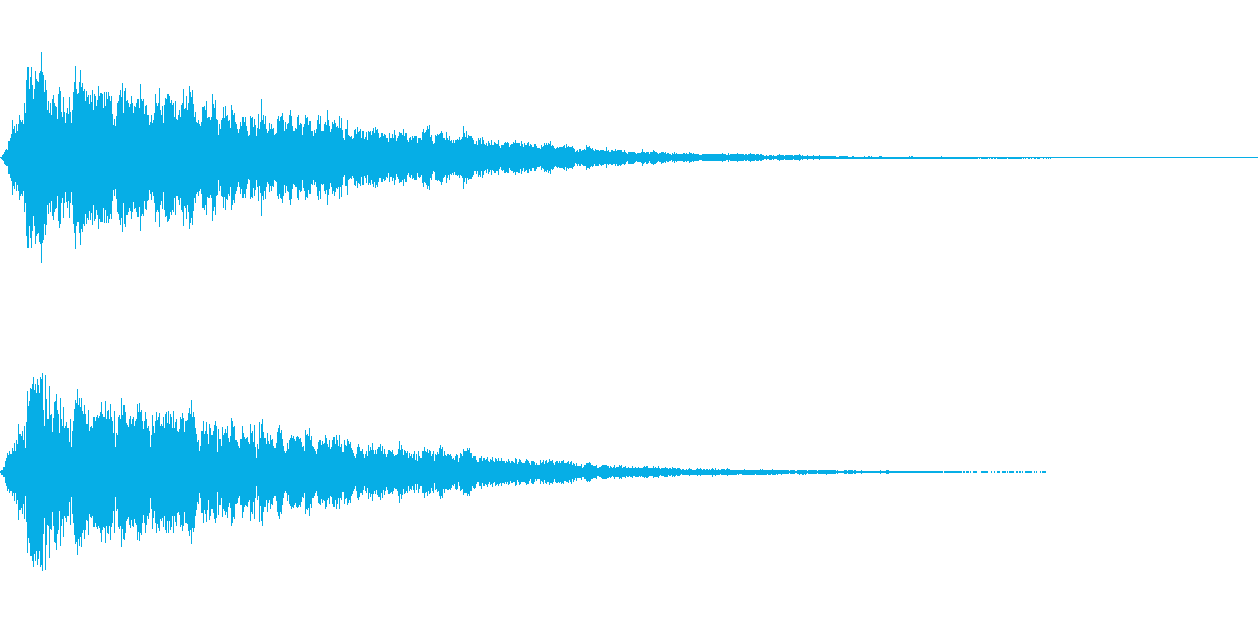 かわいい系 キラキラ系 光る音05の再生済みの波形