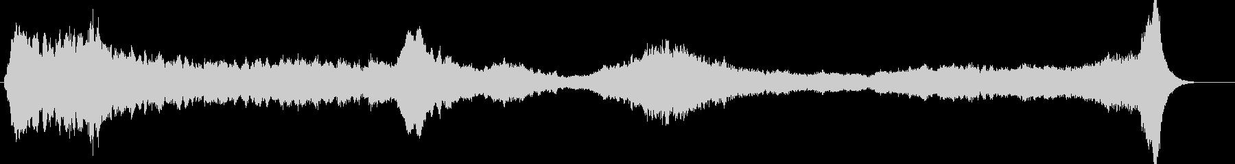 ボーカルが印象的な壮大で不気味な映像音楽の未再生の波形