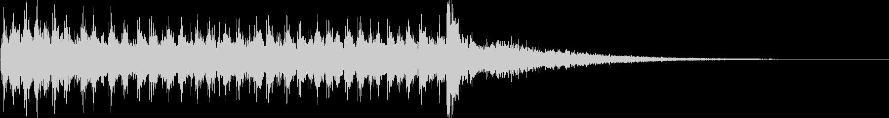 ドラムロール(シンバルまで2秒)の未再生の波形