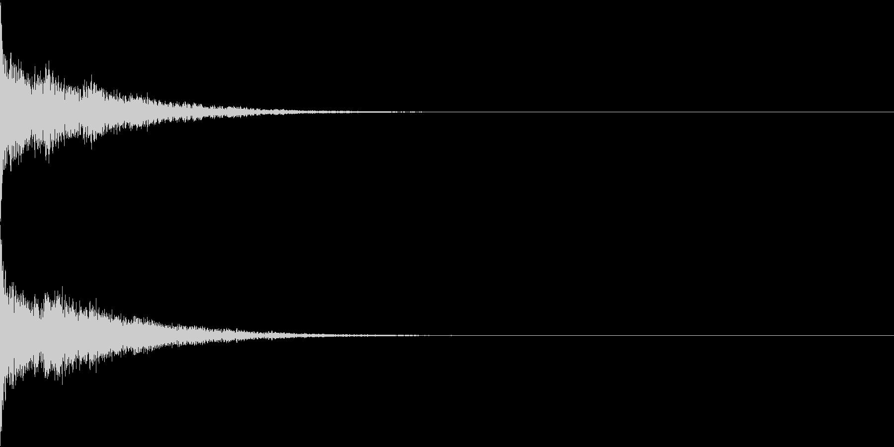 ワープ音・空を飛ぶ(シューン)の未再生の波形
