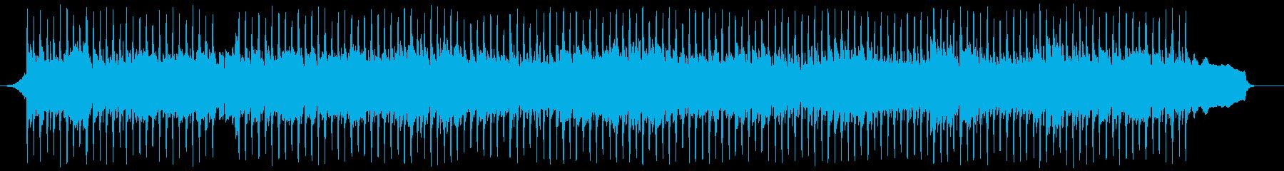 元気に前進する4つ打ちの再生済みの波形
