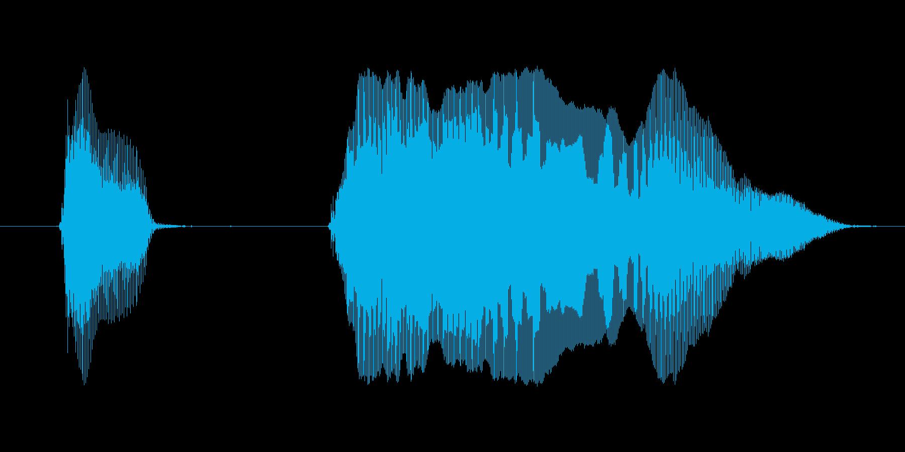 【ボイスSE】ドッカーン!の再生済みの波形
