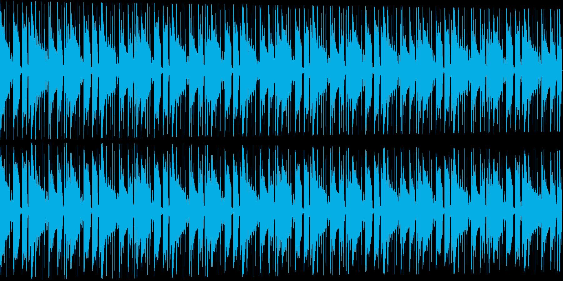 トロピカルなトラップビート16小節の再生済みの波形