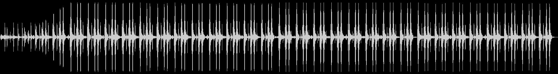 メロディーはありません。リズム曲です。の未再生の波形