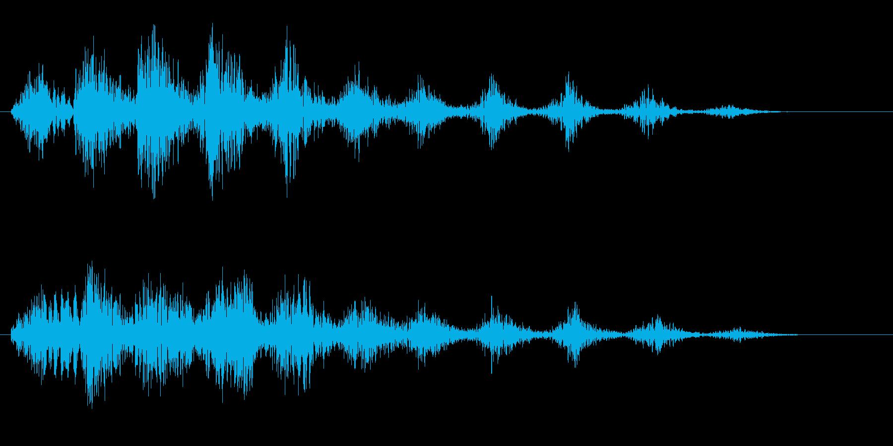 笑い声(無機質、宇宙人、コミカル)の再生済みの波形