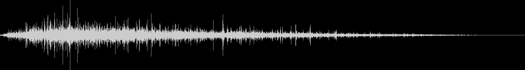 【生録音】ジューっと食材が焼ける音 1の未再生の波形