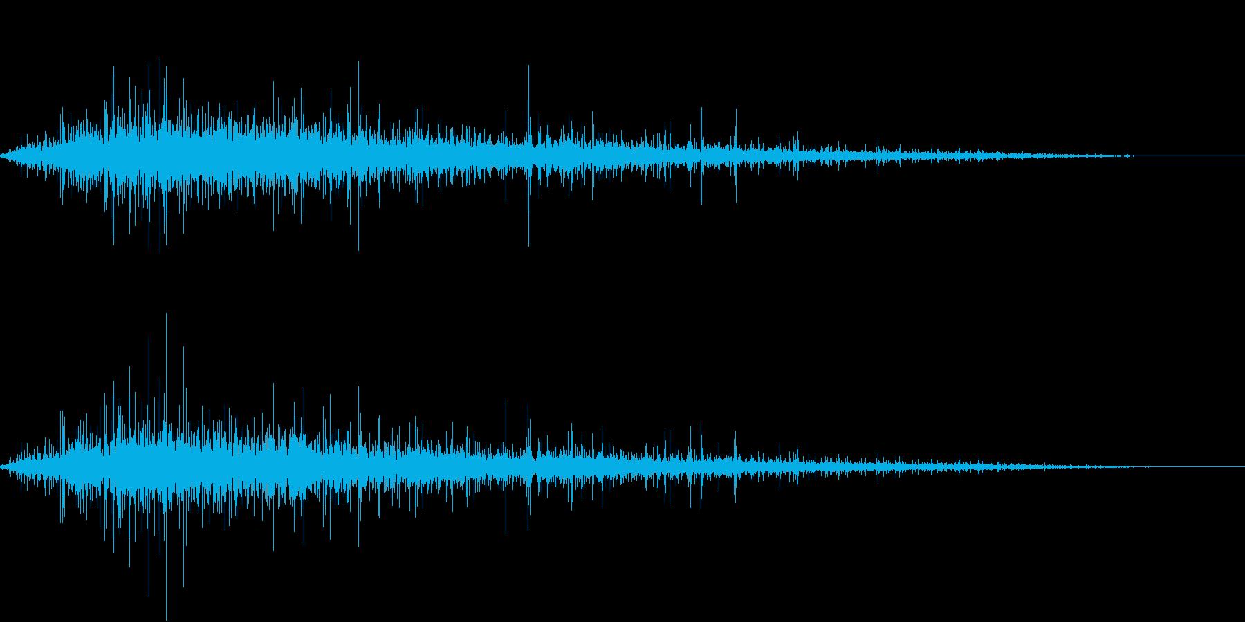 【生録音】ジューっと食材が焼ける音 1の再生済みの波形