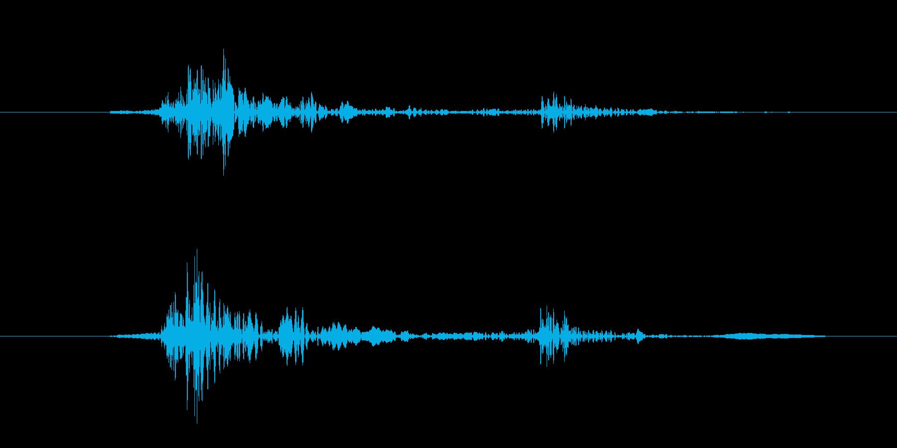 キーボード(カタッと一押し)の再生済みの波形