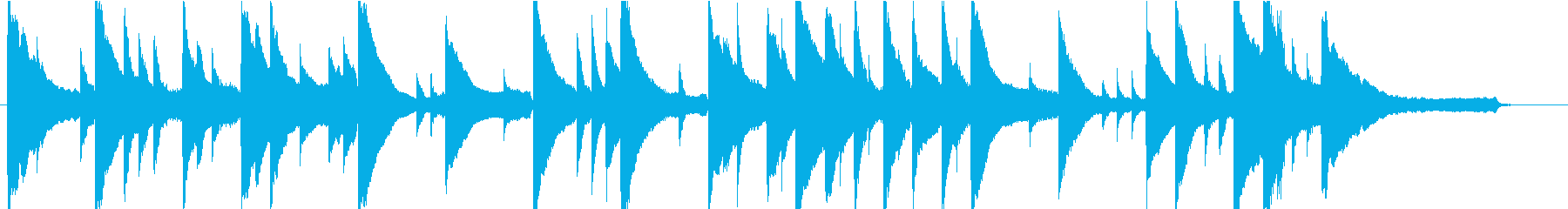 切ないシーン向けピアノソロの再生済みの波形