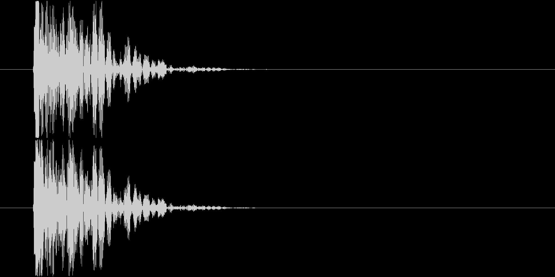 瞬間移動 短めの未再生の波形