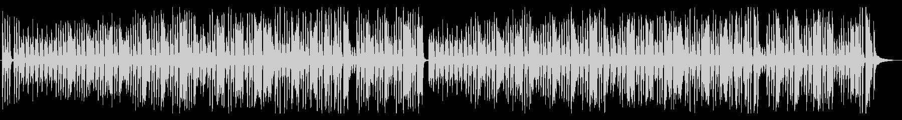 愉快で可愛らしい音楽の未再生の波形