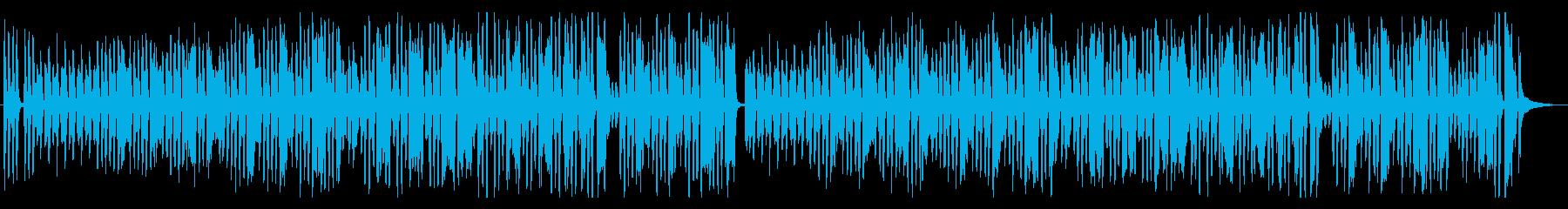 愉快で可愛らしい音楽の再生済みの波形