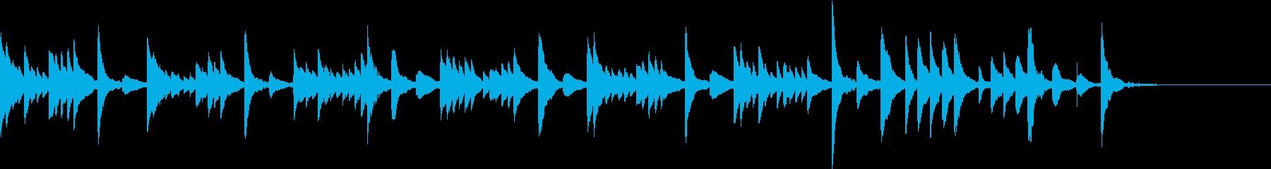 ほのぼのしたマリンバの再生済みの波形