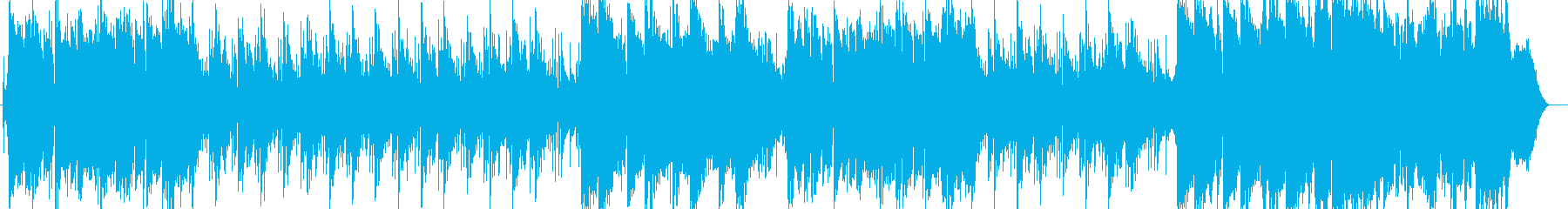 ゆったり流れる穏やかなバラードの再生済みの波形