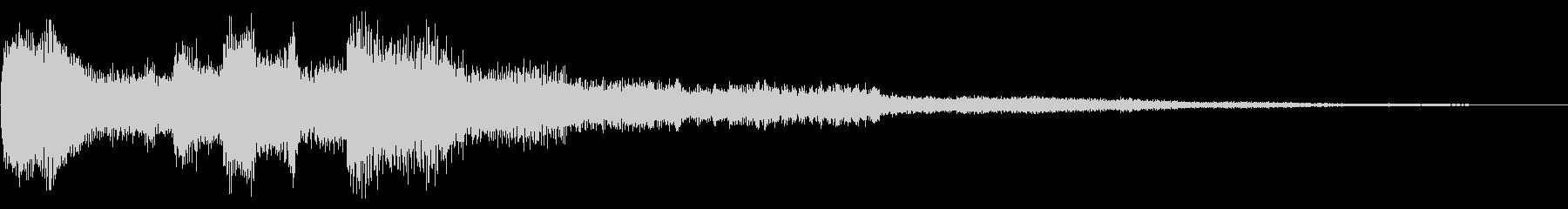 幻想的なシンプルな場面転換音 CMインの未再生の波形