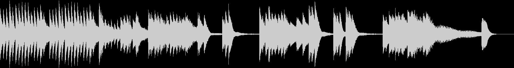 花火の燃える様を描いた夏のピアノジングルの未再生の波形